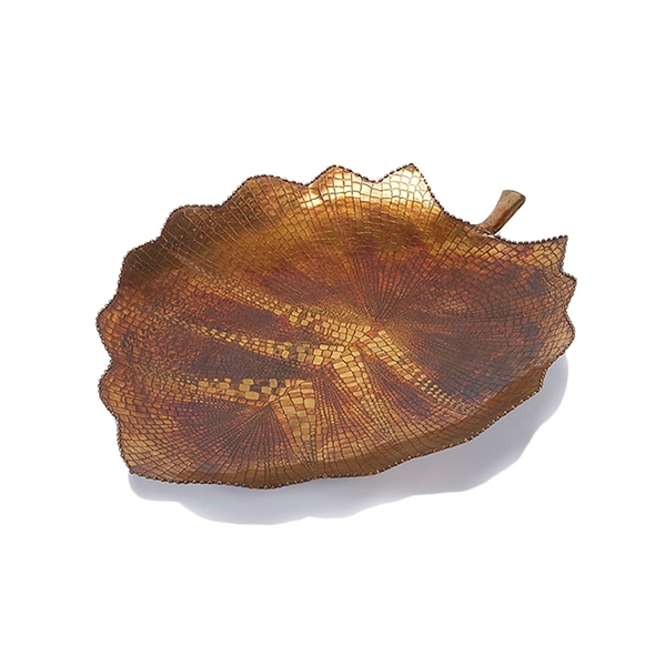 #24653 Brass Birch Leaf Tray - Large
