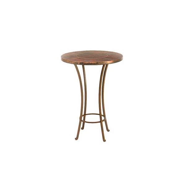 "#24681 Dublin Beverage Tub with 30"" Copper Table Top - Round (30x40"")"