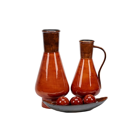 #22755 Amber Ceramic Collection 6 pc set