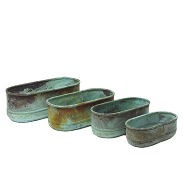 #24333 Copper Planters - Set of 4