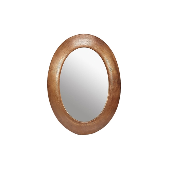 "#23024  32.5"" x 44"" Oval Textured Mirror - Copper"
