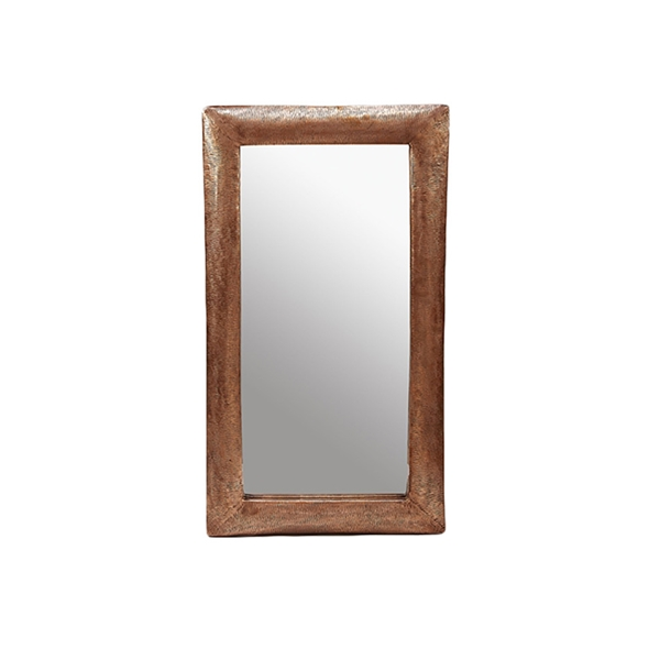"#23025  21.5"" x 38.5"" Rectangular Textured Mirror - Copper"
