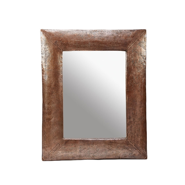 "#23026  33.5"" x 41.5"" Rectangular Textured Mirror - Copper"